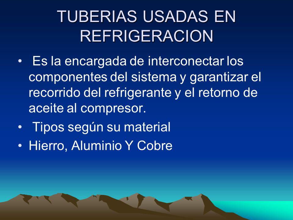 TUBERIAS USADAS EN REFRIGERACION