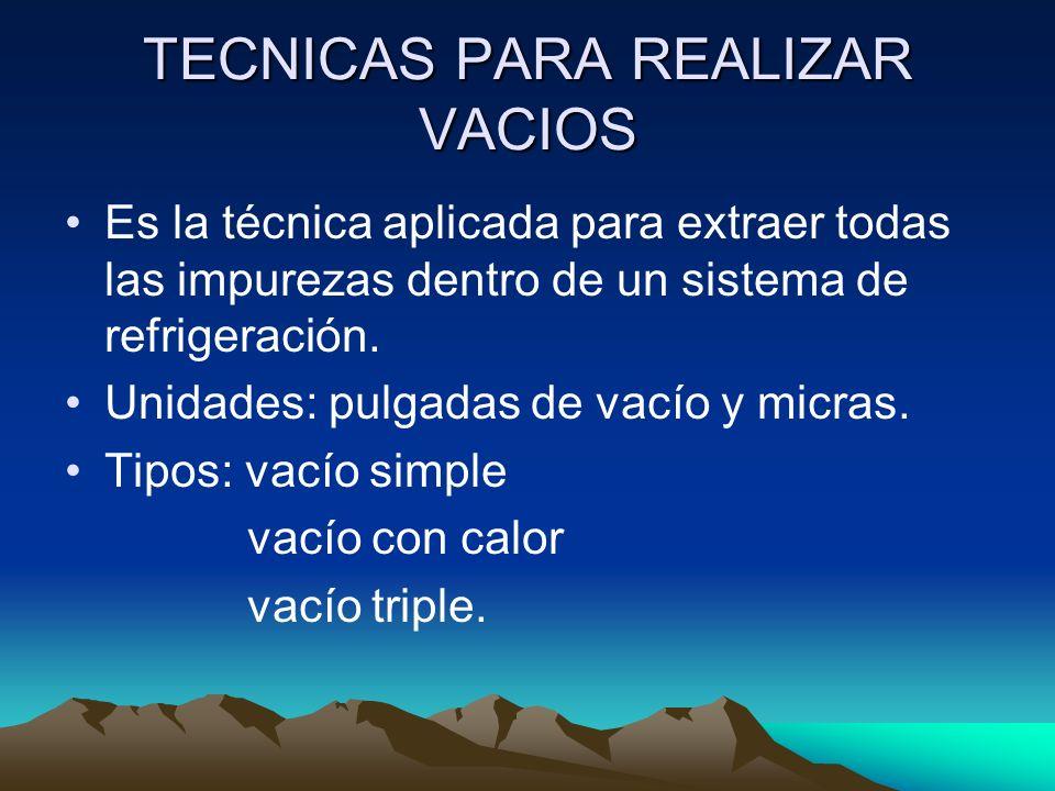 TECNICAS PARA REALIZAR VACIOS