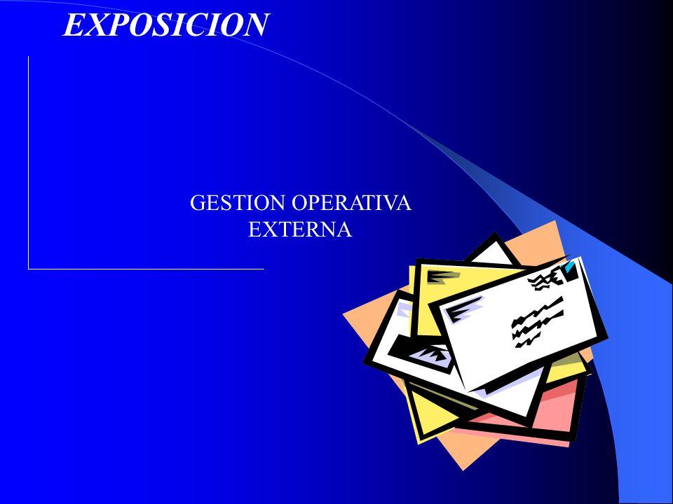 GESTION OPERATIVA EXTERNA
