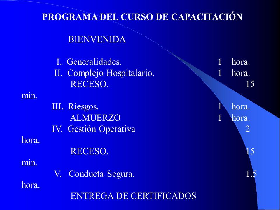 PROGRAMA DEL CURSO DE CAPACITACIÓN
