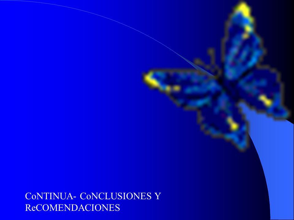 CoNTINUA- CoNCLUSIONES Y ReCOMENDACIONES