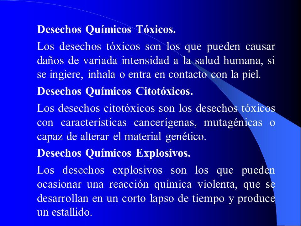 Desechos Químicos Tóxicos