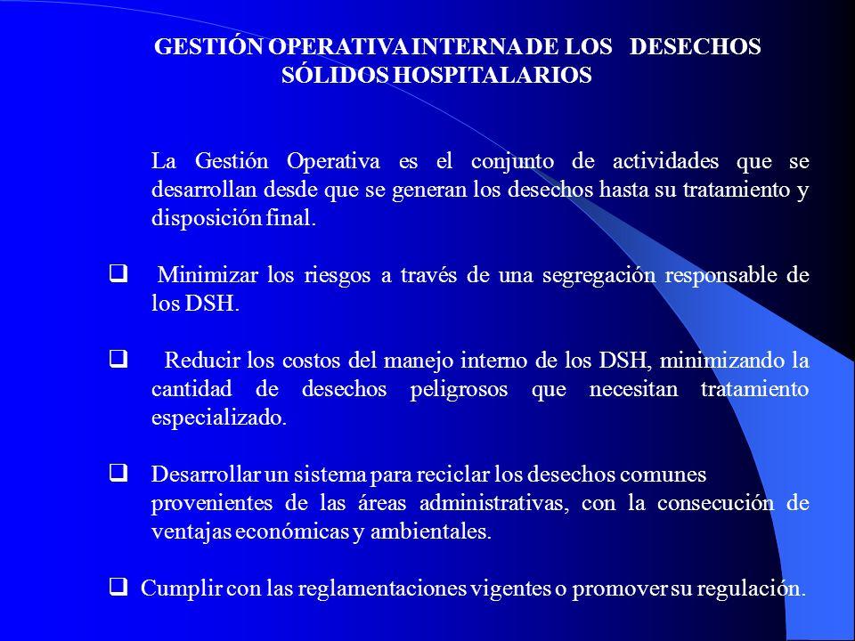 GESTIÓN OPERATIVA INTERNA DE LOS DESECHOS SÓLIDOS HOSPITALARIOS