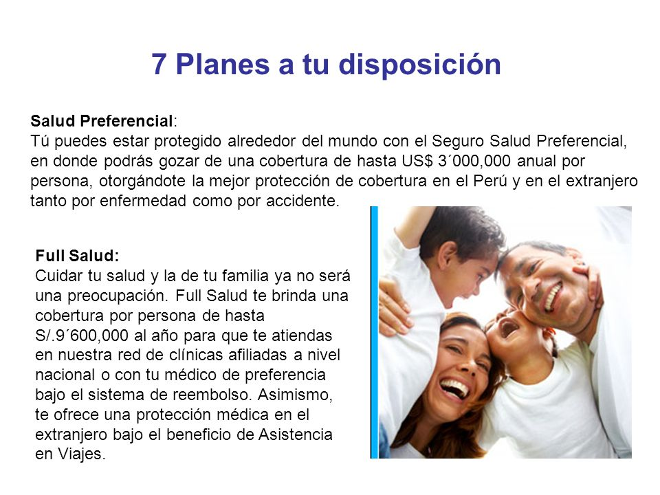 7 Planes a tu disposición