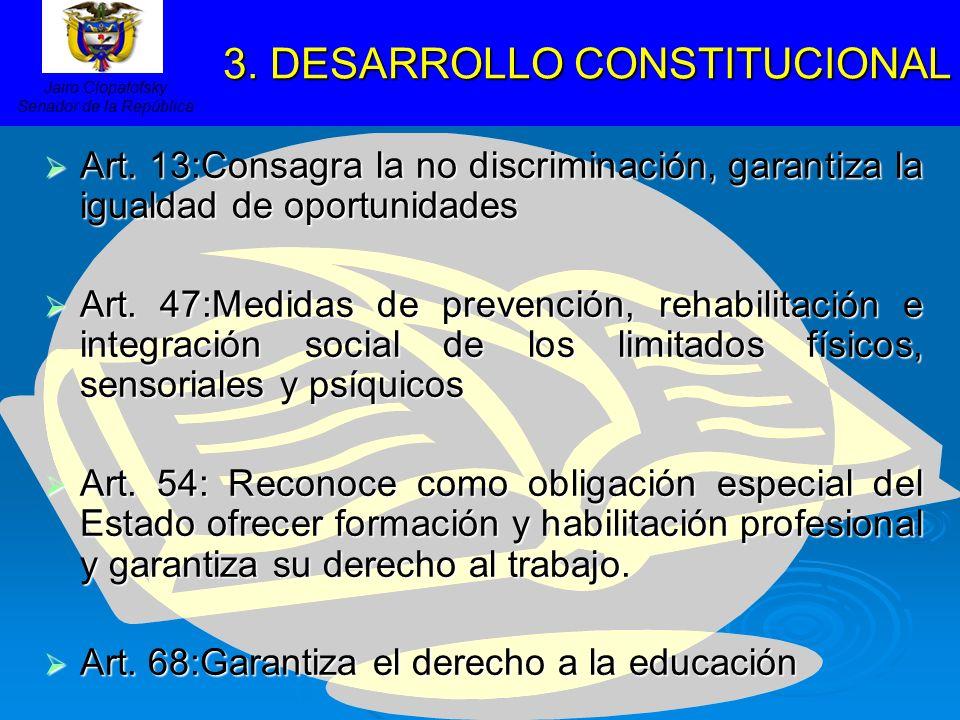 3. DESARROLLO CONSTITUCIONAL