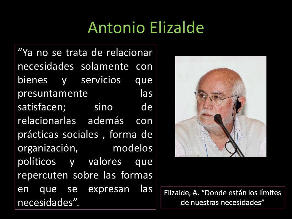 Elizalde, A. Donde están los límites de nuestras necesidades