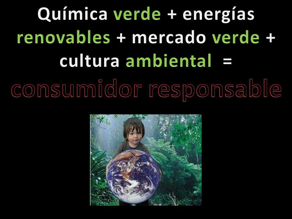 Química verde + energías renovables + mercado verde + cultura ambiental = consumidor responsable