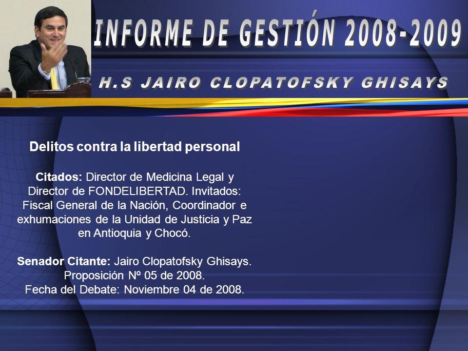H.S JAIRO CLOPATOFSKY GHISAYS Delitos contra la libertad personal