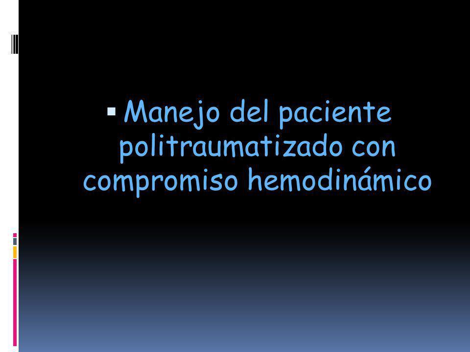 Manejo del paciente politraumatizado con compromiso hemodinámico