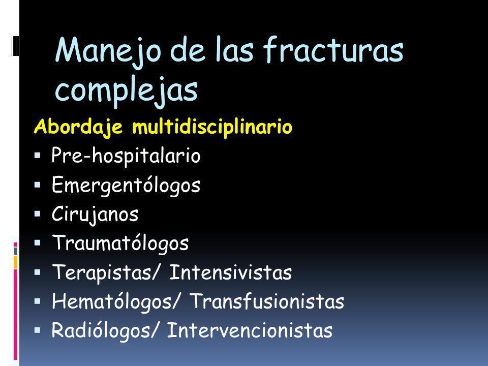 Manejo de las fracturas complejas