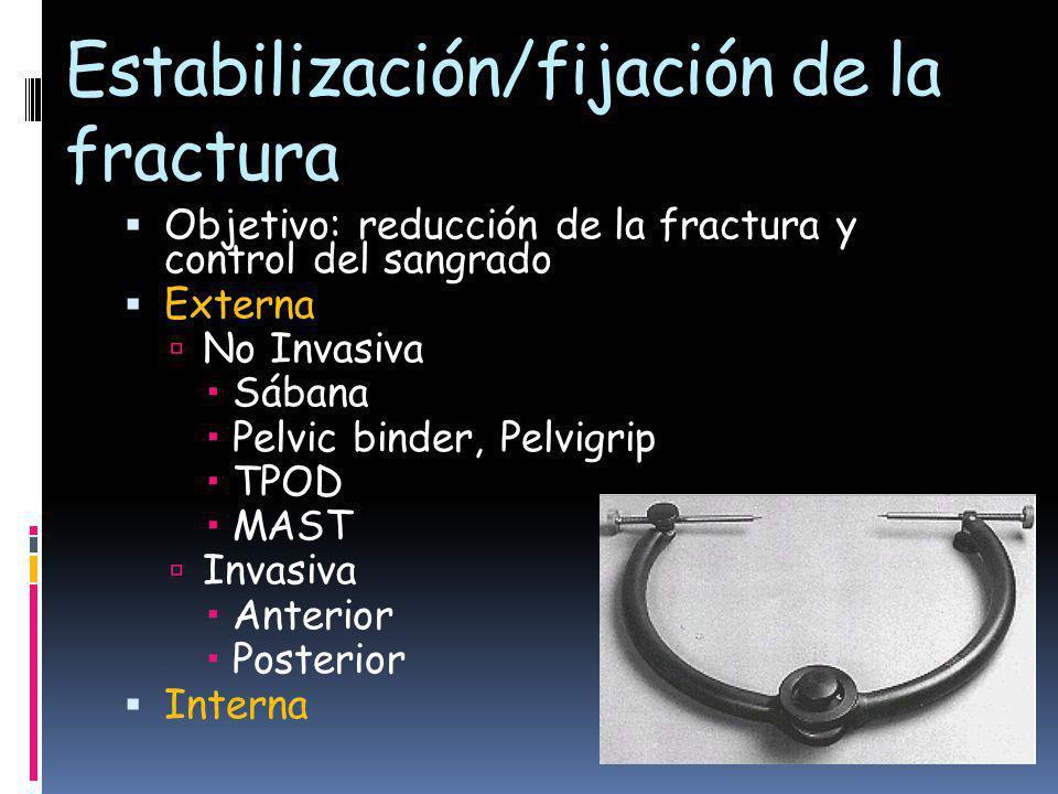 Estabilización/fijación de la fractura