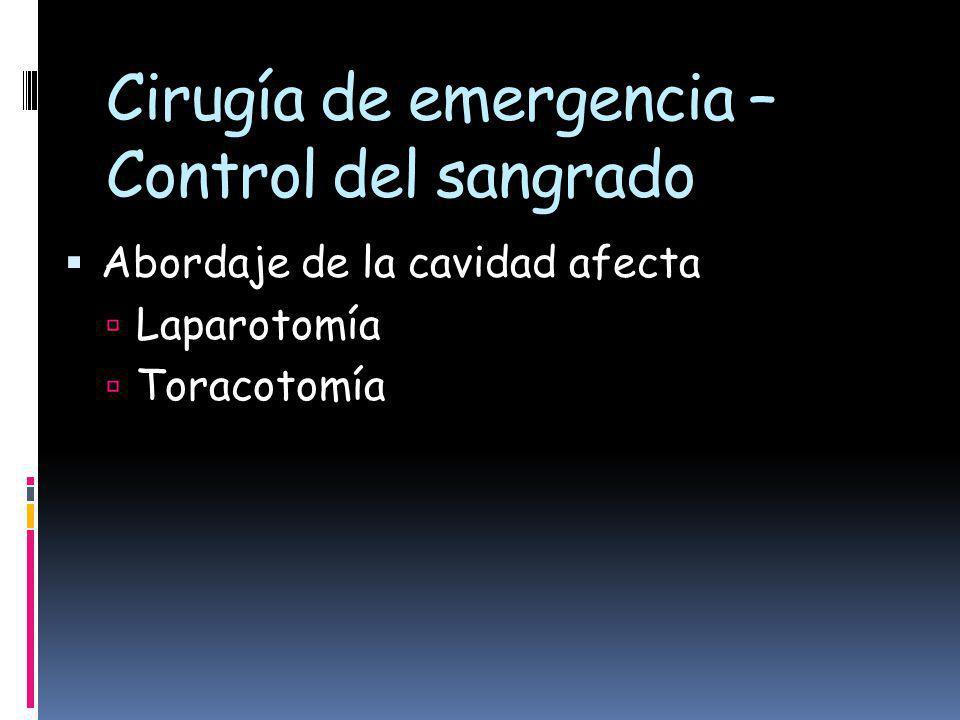 Cirugía de emergencia – Control del sangrado