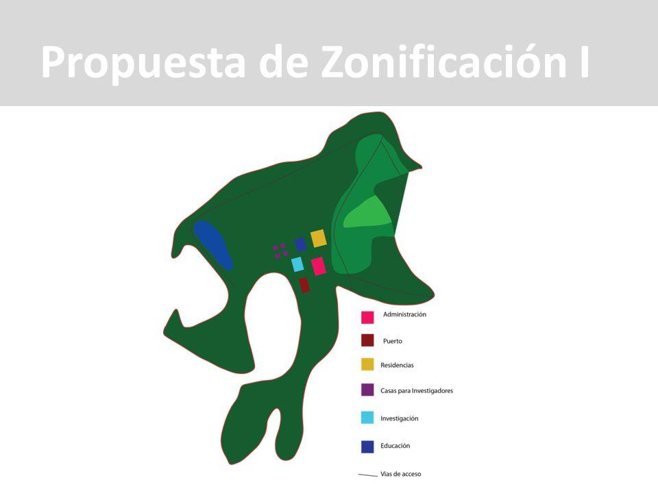 Propuesta de Zonificación I