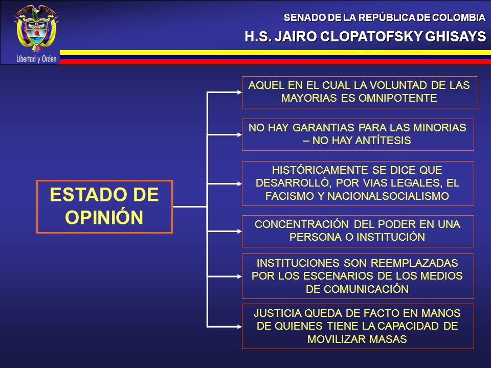 ESTADO DE OPINIÓN H.S. JAIRO CLOPATOFSKY GHISAYS