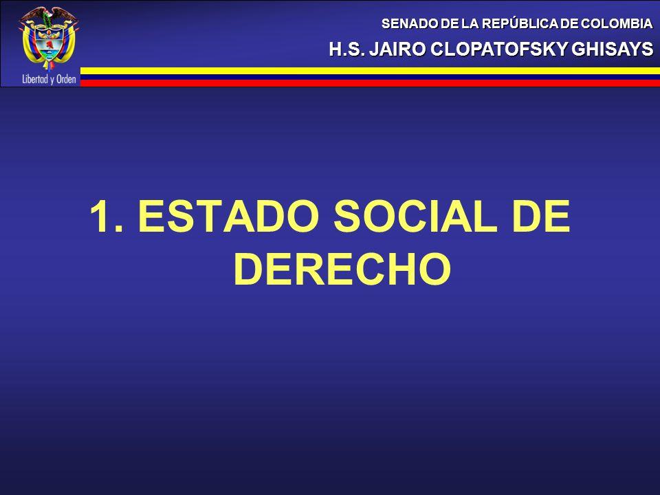 1. ESTADO SOCIAL DE DERECHO