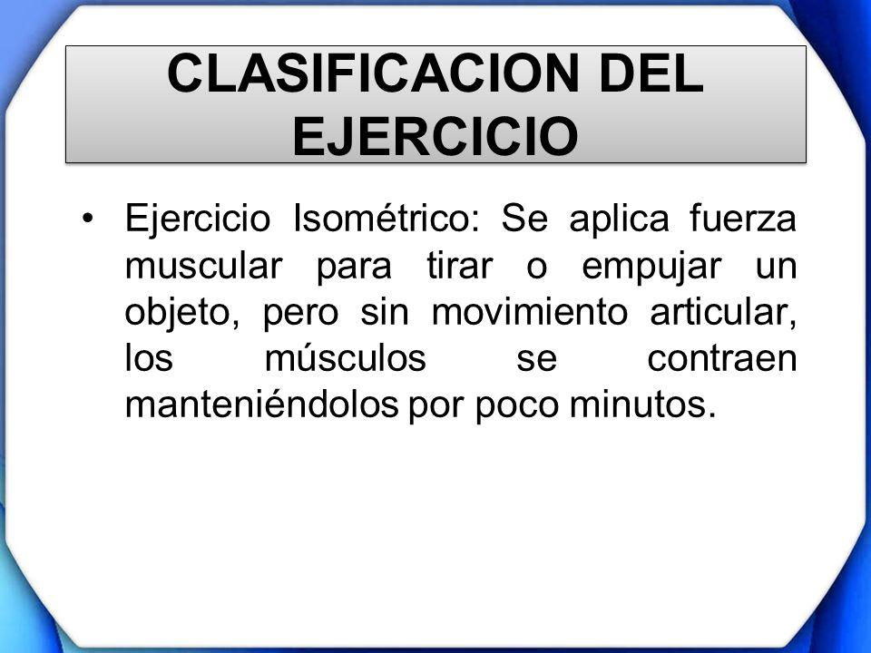 CLASIFICACION DEL EJERCICIO