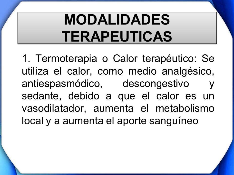 MODALIDADES TERAPEUTICAS