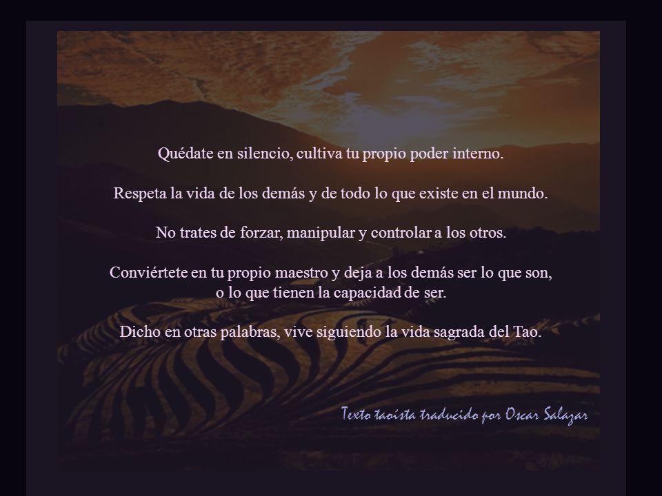 Texto taoísta traducido por Oscar Salazar