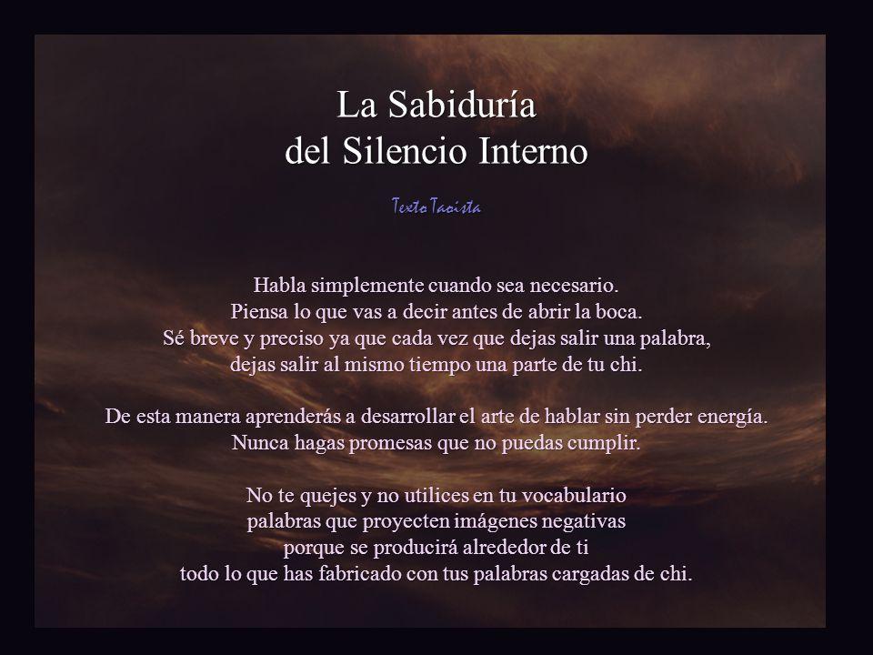 La Sabiduría del Silencio Interno Texto Taoista