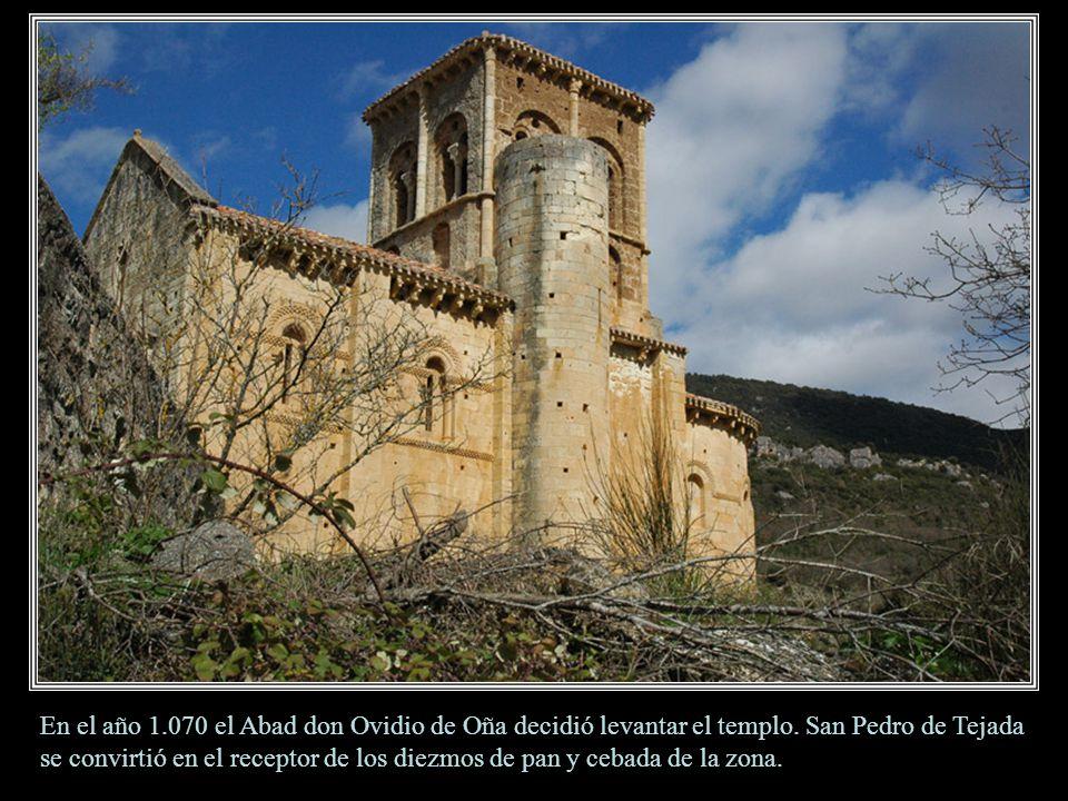 En el año 1. 070 el Abad don Ovidio de Oña decidió levantar el templo