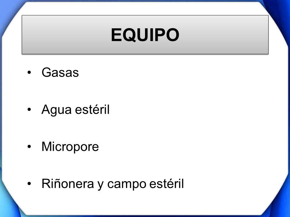 Gasas Agua estéril Micropore Riñonera y campo estéril