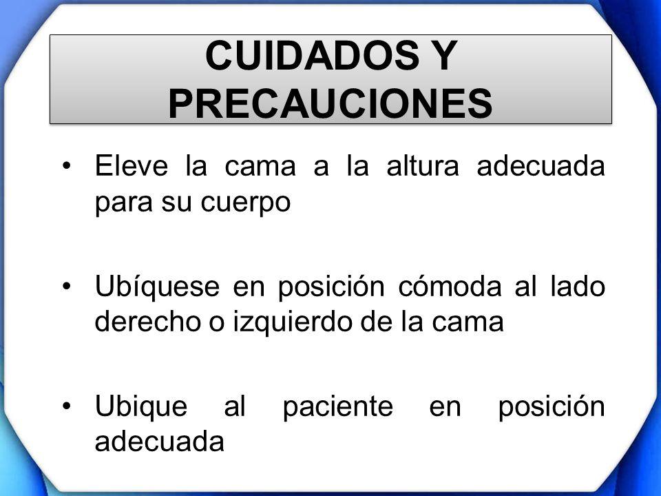 CUIDADOS Y PRECAUCIONES