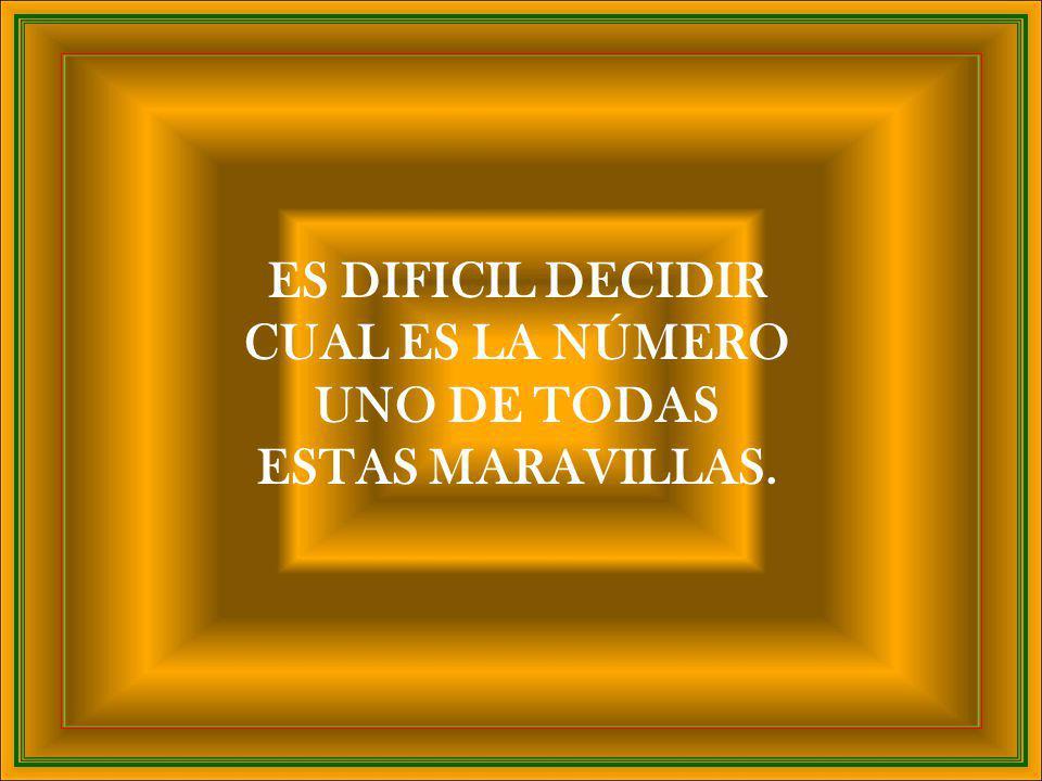 ES DIFICIL DECIDIR CUAL ES LA NÚMERO UNO DE TODAS ESTAS MARAVILLAS.