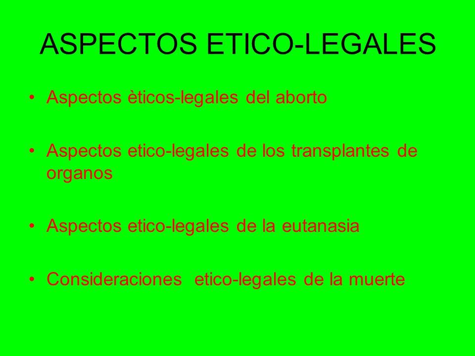 ASPECTOS ETICO-LEGALES