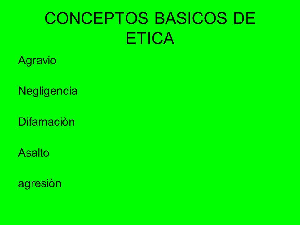 CONCEPTOS BASICOS DE ETICA