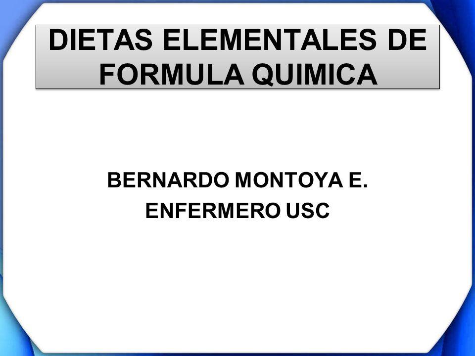 DIETAS ELEMENTALES DE FORMULA QUIMICA