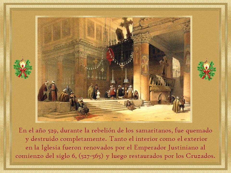 En el año 529, durante la rebelión de los samaritanos, fue quemado