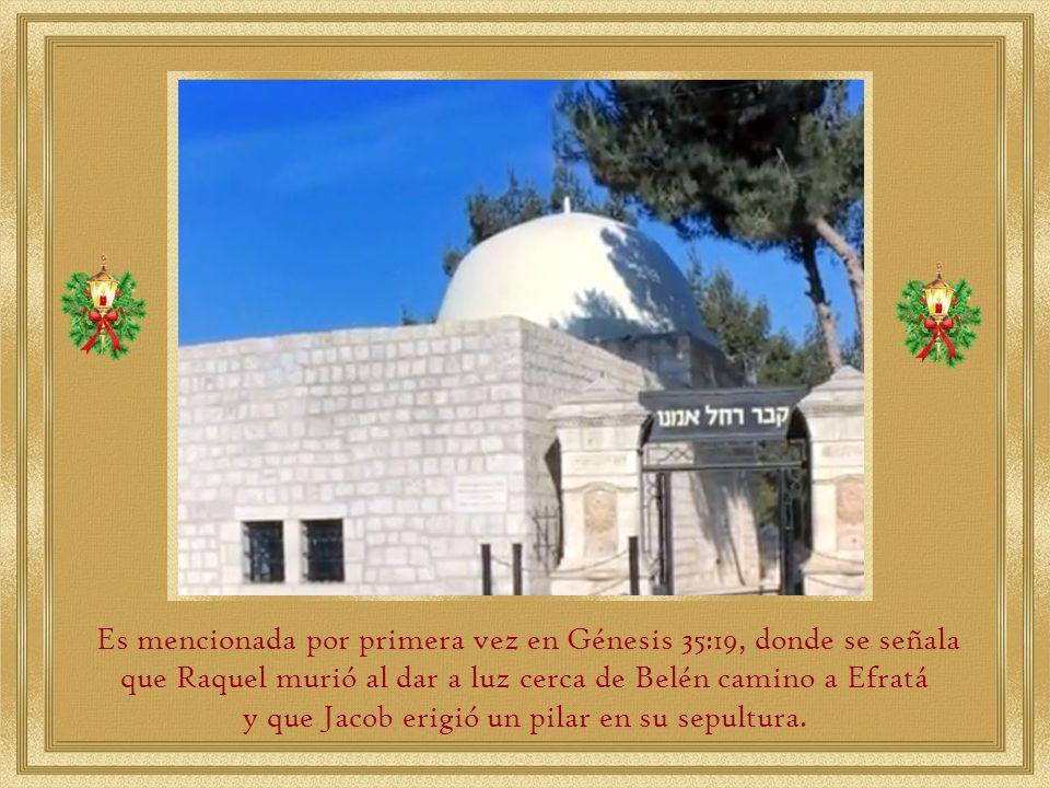y que Jacob erigió un pilar en su sepultura.