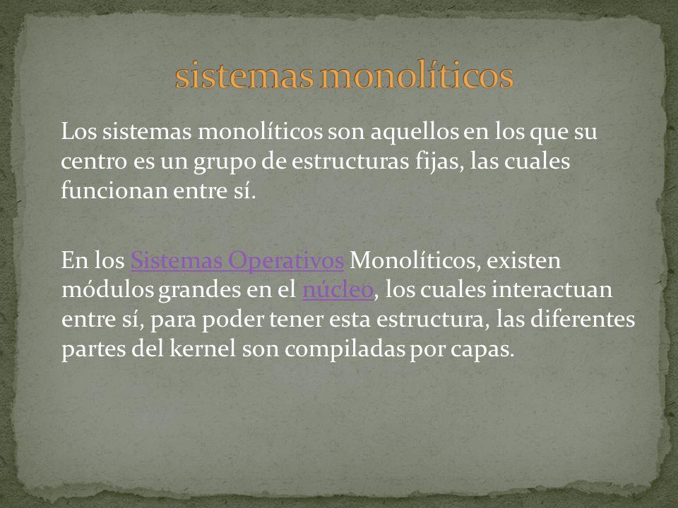 sistemas monolíticos
