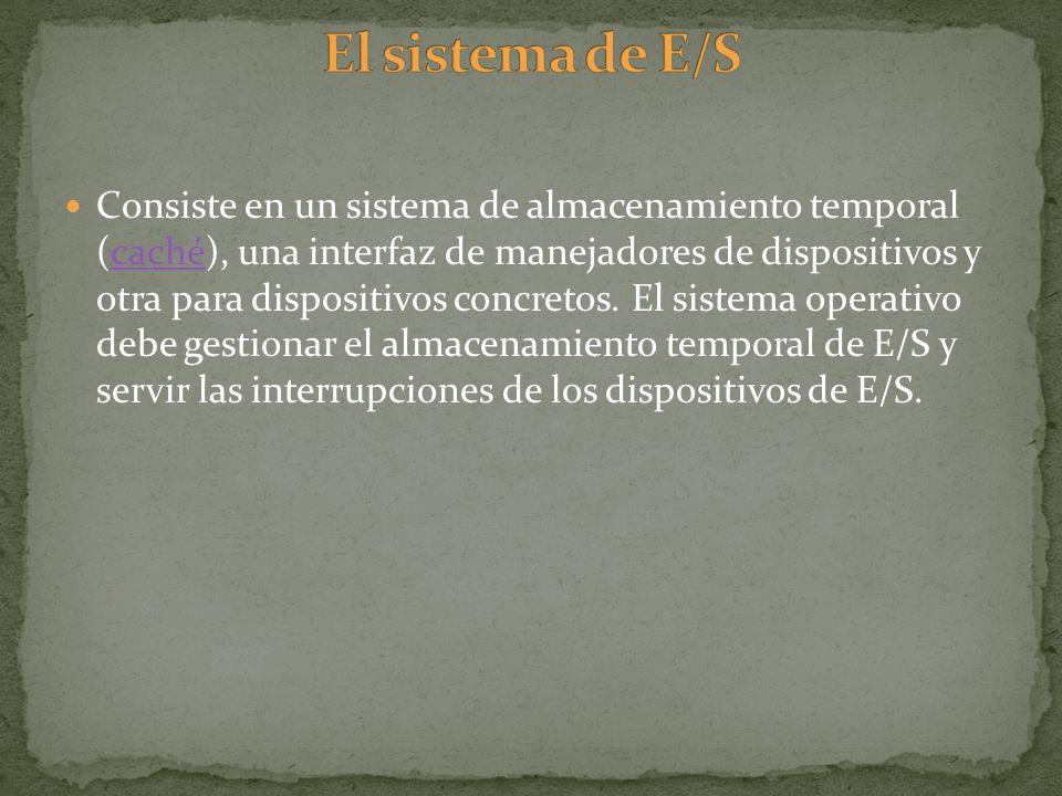 El sistema de E/S