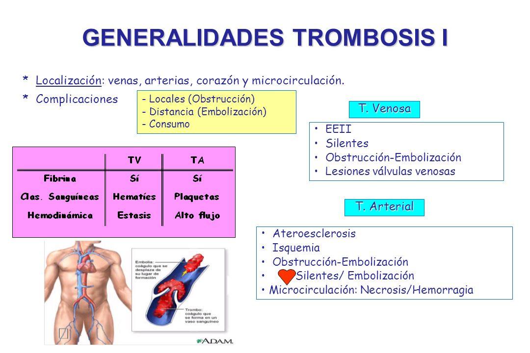 GENERALIDADES TROMBOSIS I