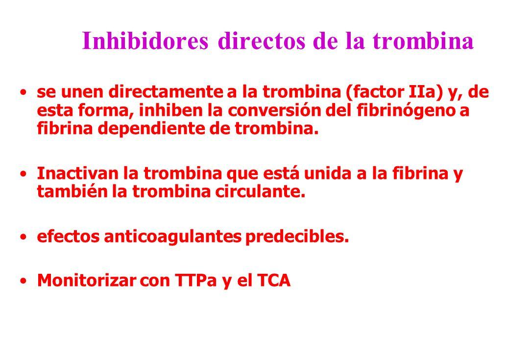 Inhibidores directos de la trombina