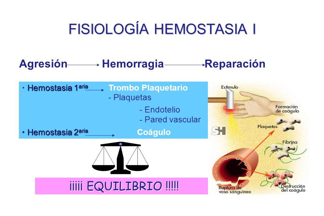 FISIOLOGÍA HEMOSTASIA I