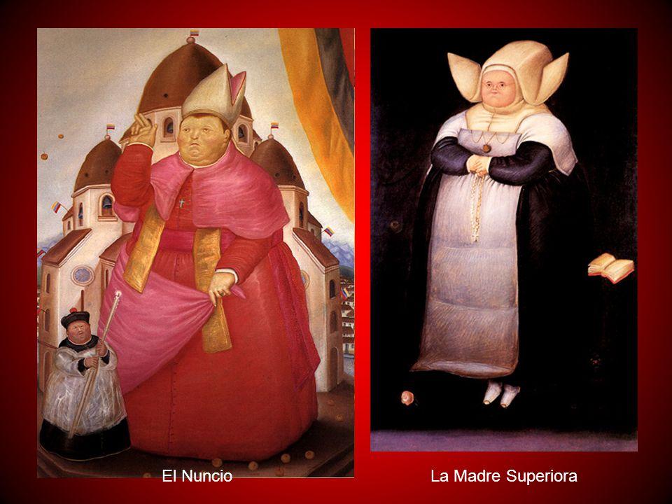 La religión, la política y los militares son los mandos bajo los cuales se desarrolla la vida colombiana y Botero, conocedor de ello, lo refleja también en sus obras con cierto humor e ironía.