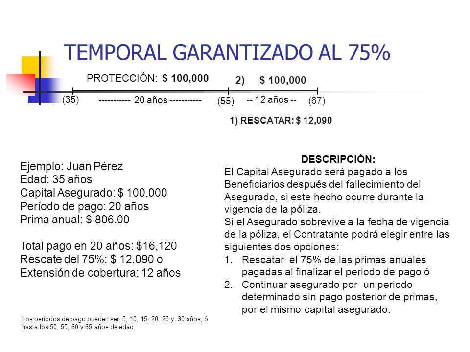 TEMPORAL GARANTIZADO AL 75%