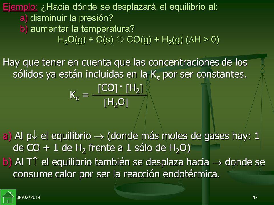 CO · H2 Kc = —————— H2O