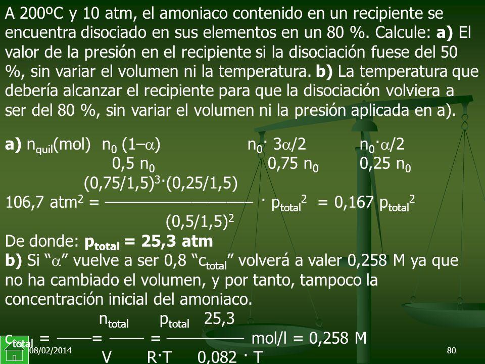 a) nquil(mol) n0 (1–) n0· 3/2 n0·/2 0,5 n0 0,75 n0 0,25 n0