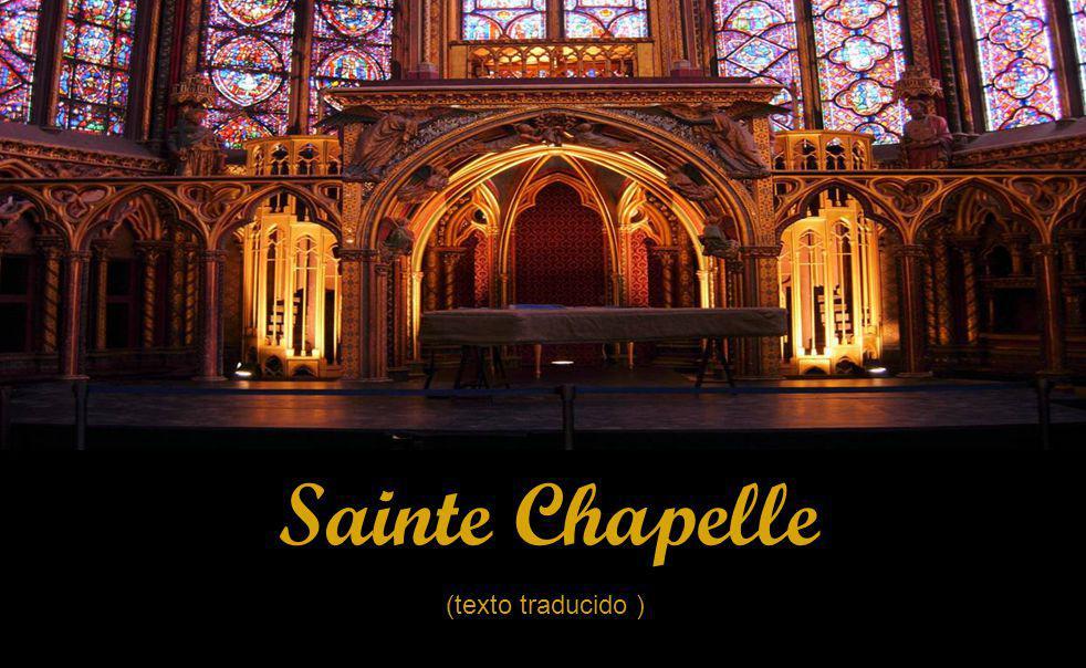 Sainte Chapelle (texto traducido )