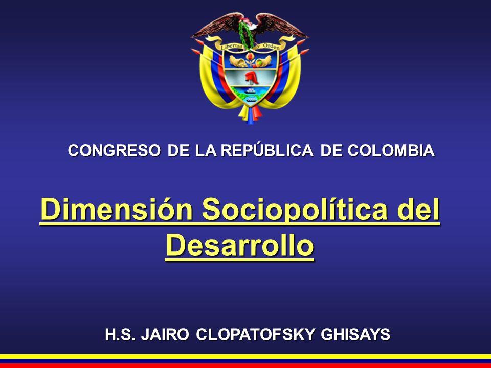 Dimensión Sociopolítica del Desarrollo