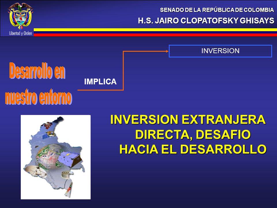 INVERSION EXTRANJERA DIRECTA, DESAFIO HACIA EL DESARROLLO