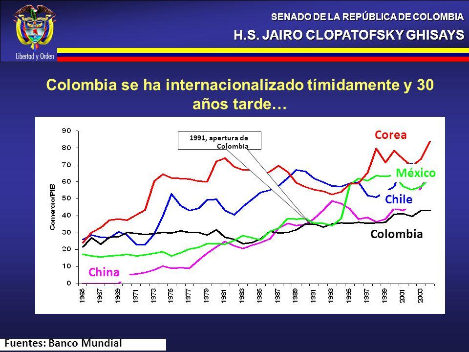 Colombia se ha internacionalizado tímidamente y 30 años tarde…