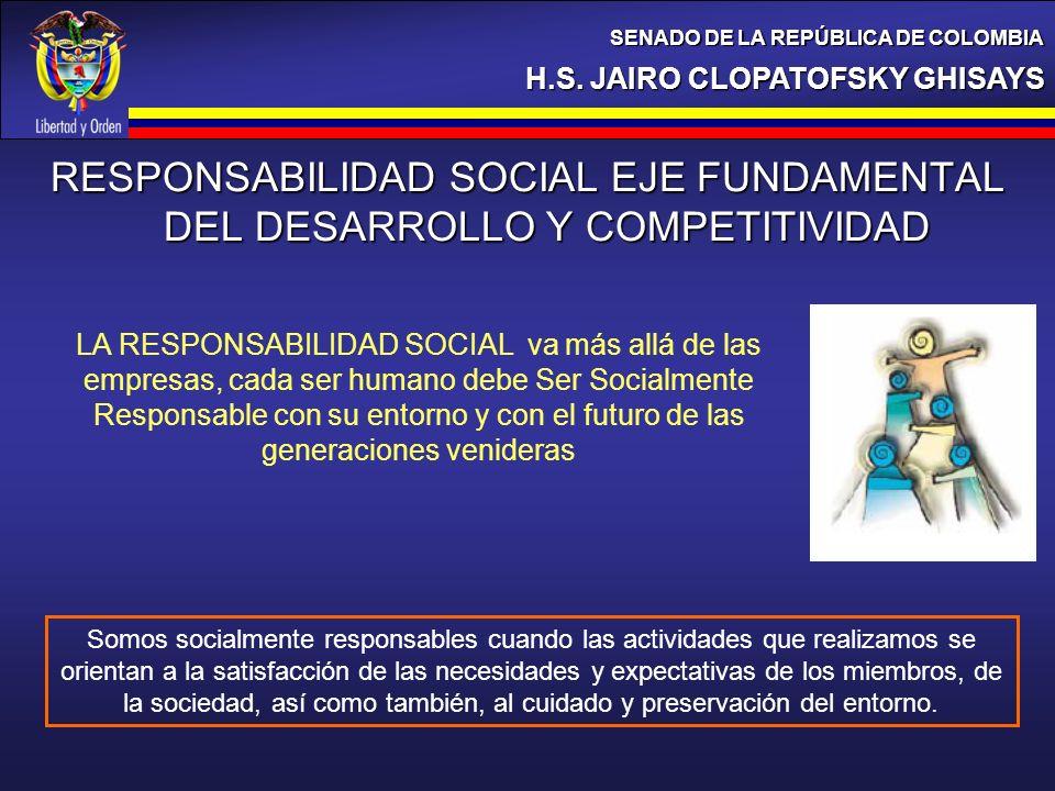 RESPONSABILIDAD SOCIAL EJE FUNDAMENTAL DEL DESARROLLO Y COMPETITIVIDAD