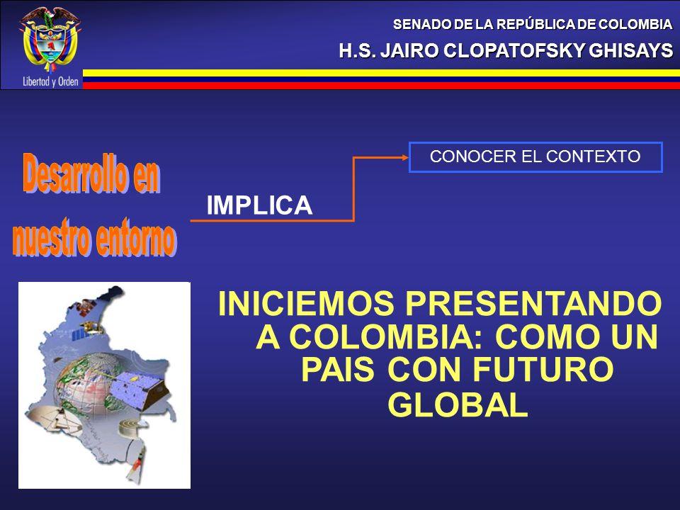 INICIEMOS PRESENTANDO A COLOMBIA: COMO UN PAIS CON FUTURO GLOBAL