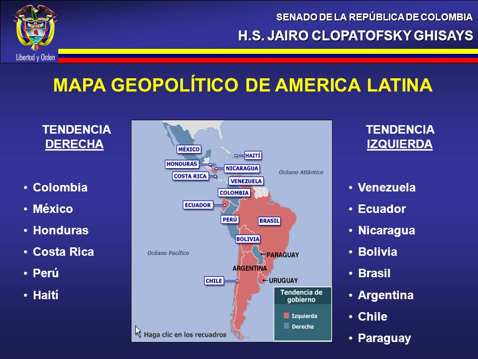 MAPA GEOPOLÍTICO DE AMERICA LATINA