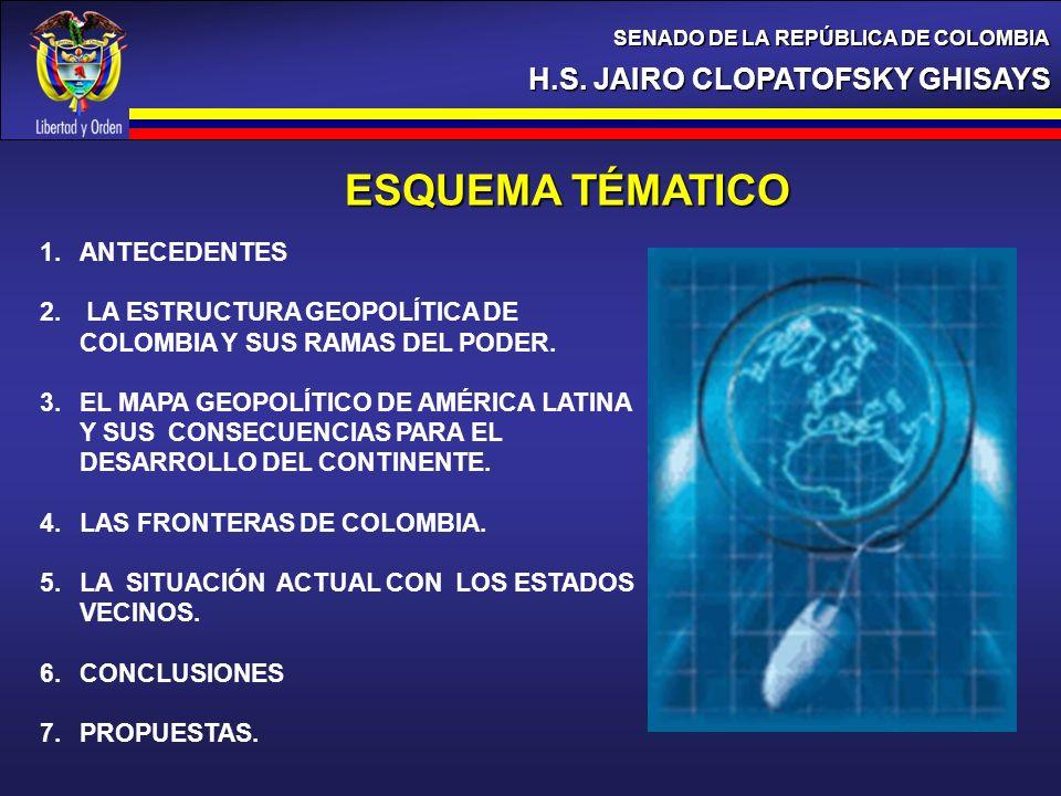 ESQUEMA TÉMATICO H.S. JAIRO CLOPATOFSKY GHISAYS ANTECEDENTES
