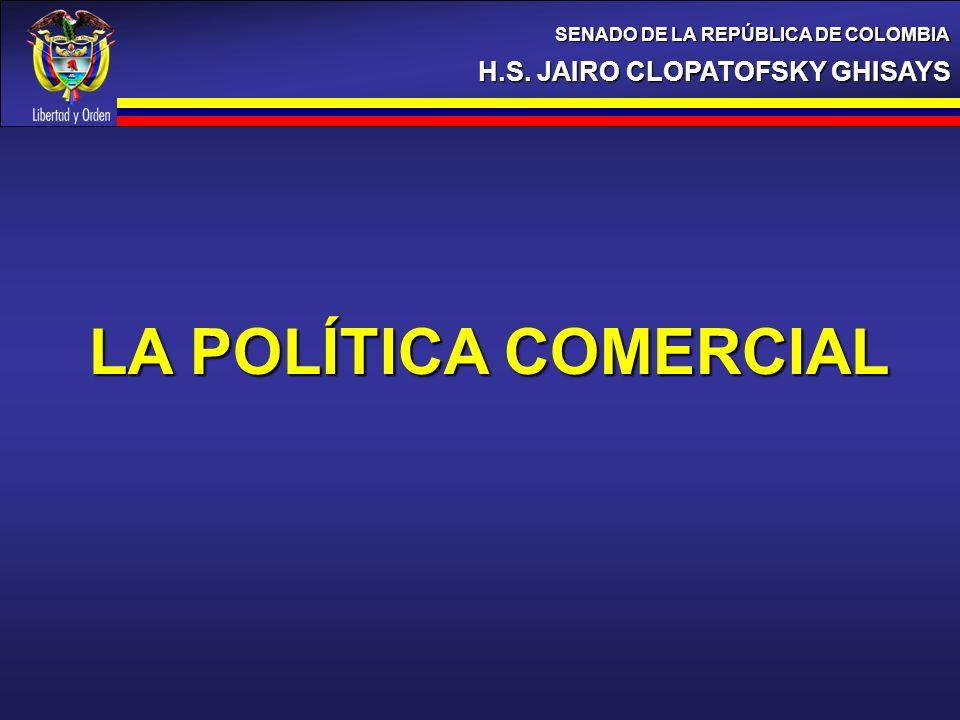 LA POLÍTICA COMERCIAL H.S. JAIRO CLOPATOFSKY GHISAYS
